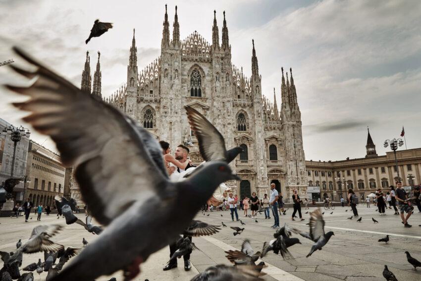 zagraniczna sesja ślubna we włoszech wykonana przez fotografa śłubnego Przemka Białka